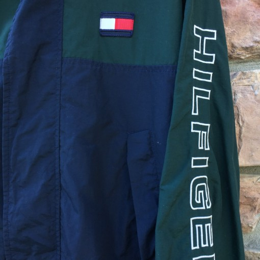 vintage 90's Tommy Hilfiger windbreaker jacket color block size small