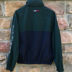 vintage 90's Tommy Hilfiger jacket green navy size small