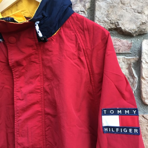 vintage 90's Tommy Hilfiger red jacket size large