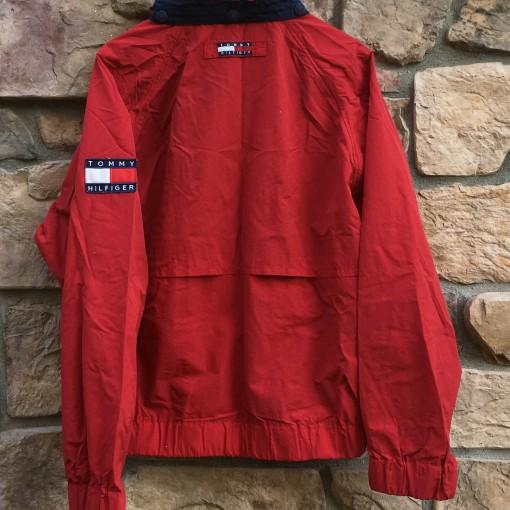 vintage 90's Tommy Hilfiger flag logo jacket size large