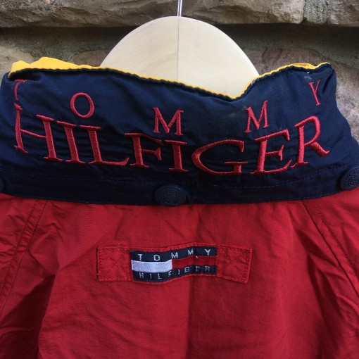 90's Tommy hilifger jacket red