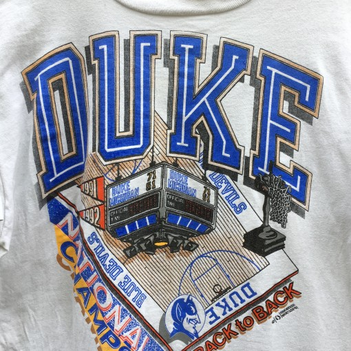 vintage 90's Duke National champions NCAA basketball t shirt