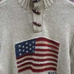 vintage 90's USA Polo Ralph Lauren American Flag Sweater
