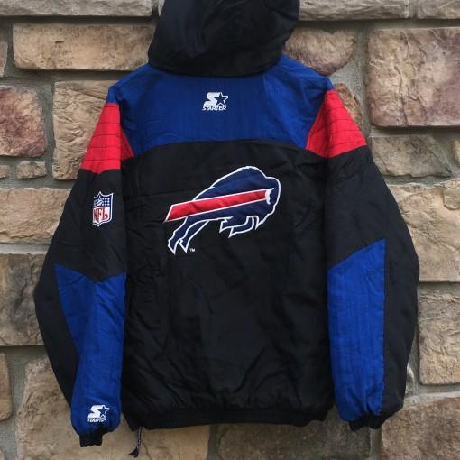 vintage Buffalo Bills Starter NFL pullover jacket black size XL