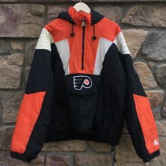 vintage Philadelphia flyers starter nhl pullover jacket size large