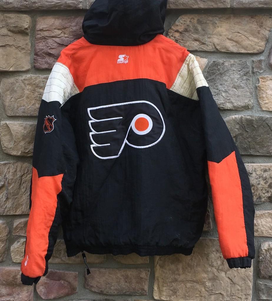 90 s Philadelphia Flyers Starter NHL Pullover Jacket Size Large ... e20dbe073