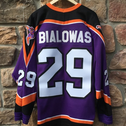 vintage 90's Frank Bialowas Philadelphia Phantoms the animal AHL jersey