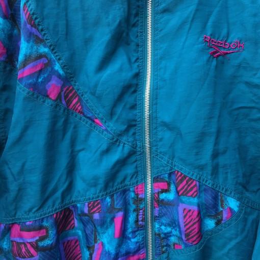 vintage 90's Reebok floral print windbreaker jacket