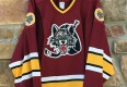 vintage 90's Chicago Wolves IHL hockey jersey bauer minor league