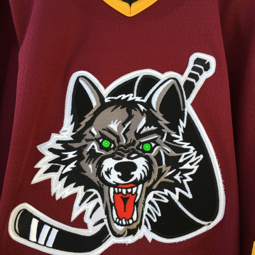 vintage 90's Chicago Wolves IHL jersey size XL