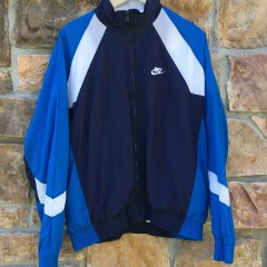 vintage 90's Nike windbreaker jacket navy blue white size medium