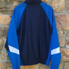 vintage 90's nike windbreaker jacket navy white blue