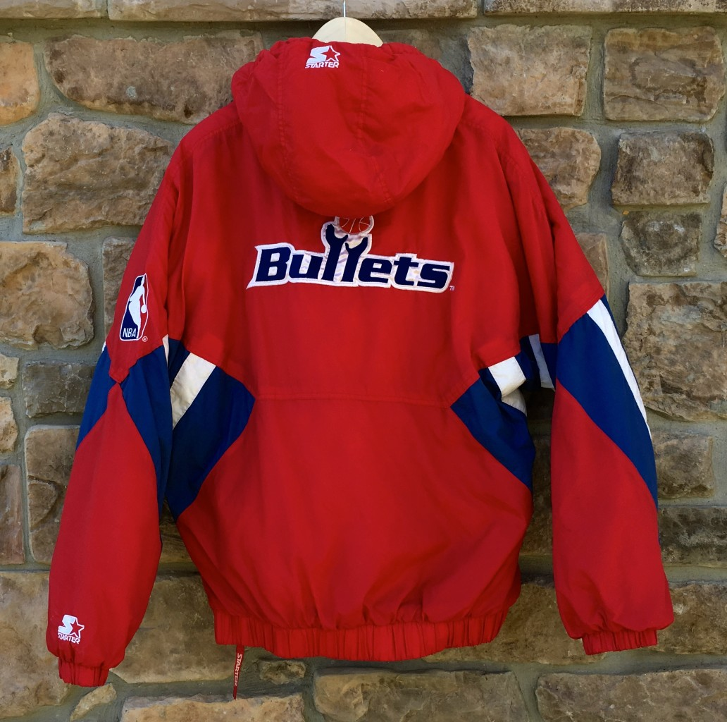 a7ccce0c6 90 s Washington Bullets Starter NBA Pullover Jacket Size XL