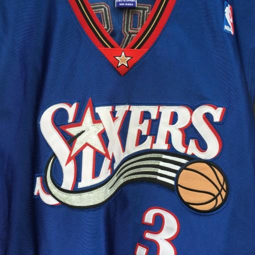 vintage Allen Iverson Philadelphia Sixers Champion NBA jersey