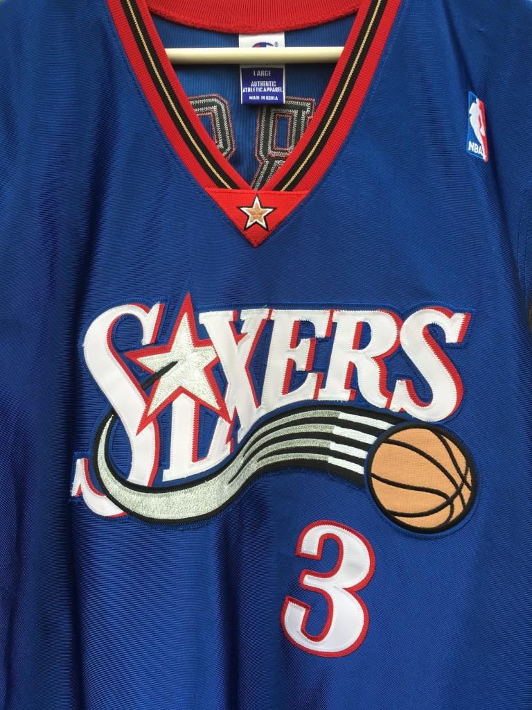 f33139125 2001 Allen Iverson Philadelphia 76ers Champion Authentic NBA Jersey ...