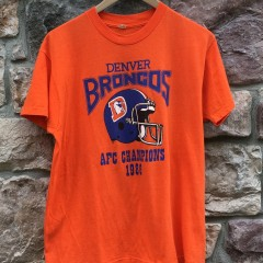 vintage 1986 Denver Broncos orange crush screen stars best t shirt