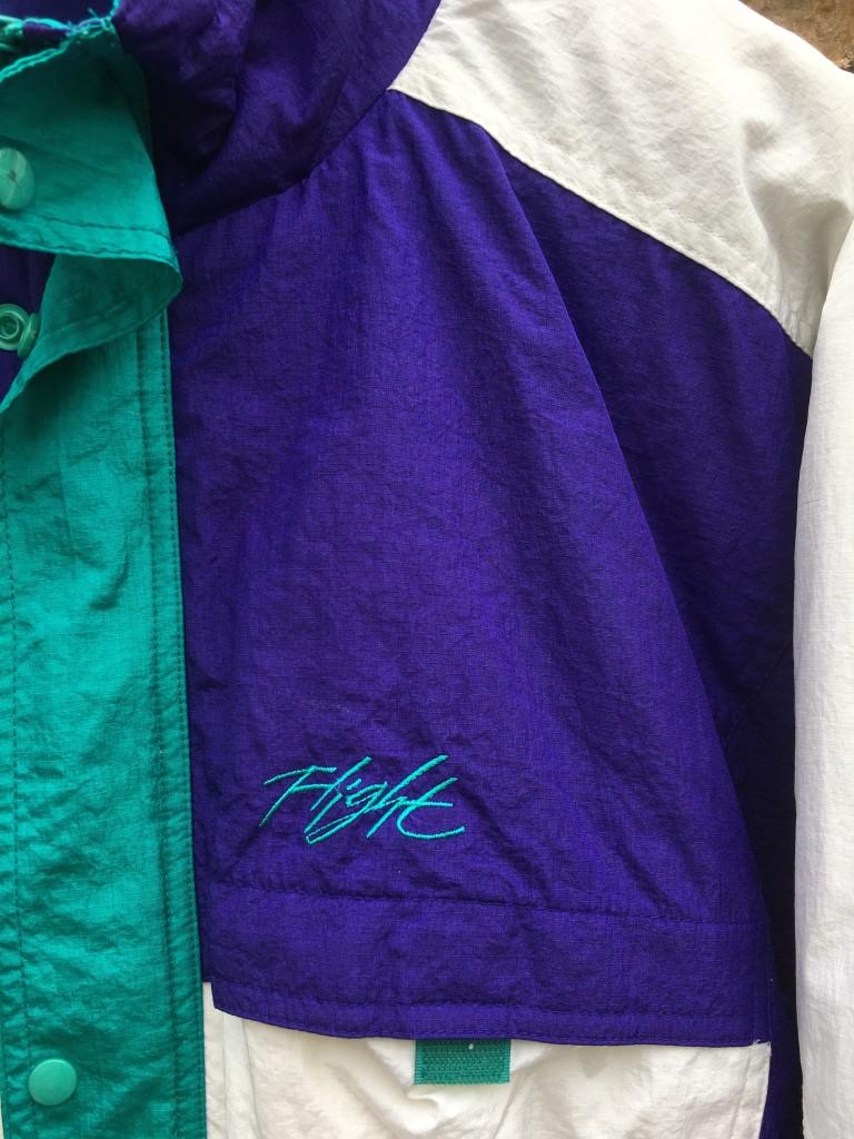 453bbac6ec6f vintage 1990 Nike Flight jacket size XL air jordan 5 grape