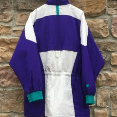 vintage 90's Aqua purple nike flight air jordan 5 grape jacket