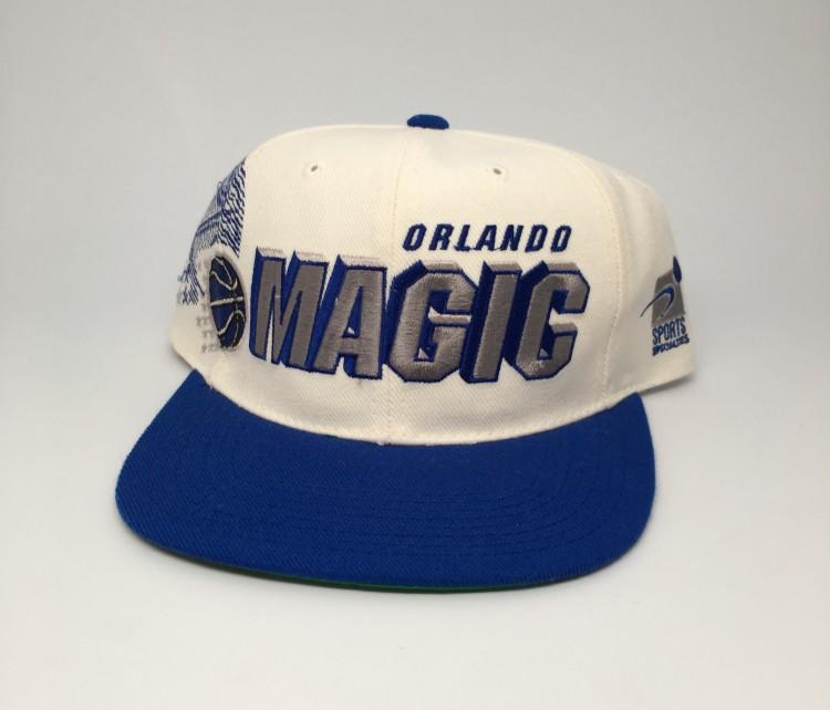 3abdd29ae16 vintage 90 s Orlando Magic shadow snapback hat sports specialties