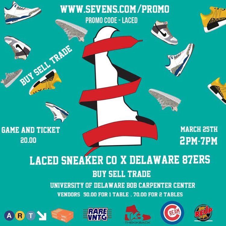 Laced Sneaker Company x Delaware 87ers sneaker convention 3/25/17
