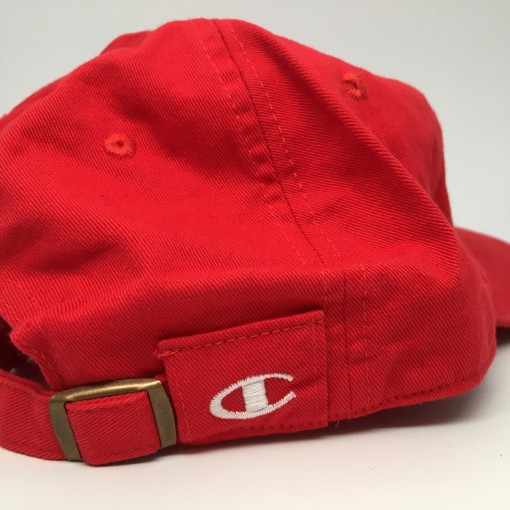 champion dad hat red