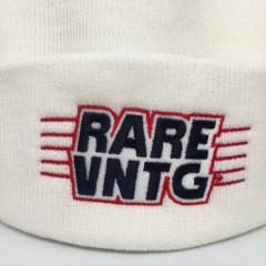 rare vntg beanie hat white