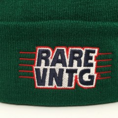 rare vntg beanie hat forest green