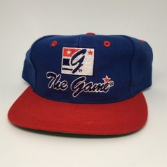 vintage 90's The Game Snapback hat blue red
