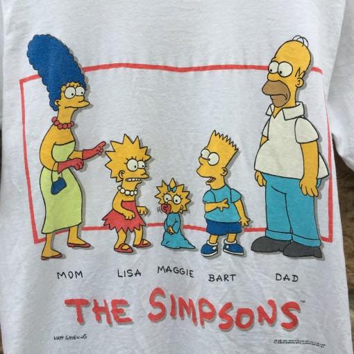 original vintage 1990 the simpsons t shirt