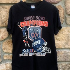 vintage New York Giants Super Bowl XXV Champions NFL t shirt