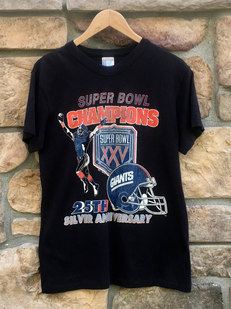 vintage New York Giants Super Bowl XXV Champions NFL t shirt 73b5e92f4