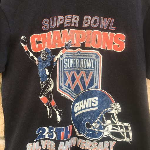 New York Giants Super Bowl Champions 25th Anniversary t shirt