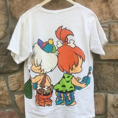 Vintage Bam Bam Pebbles the flintstones double sided 90's t shirt