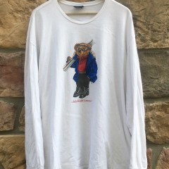 vintage 90's Polo Ralph Lauren Ski Bear long sleeve polo bear t shirt size XXL
