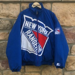 vintage 90's New York Rangers Starter Big Logo NHL jacket size large
