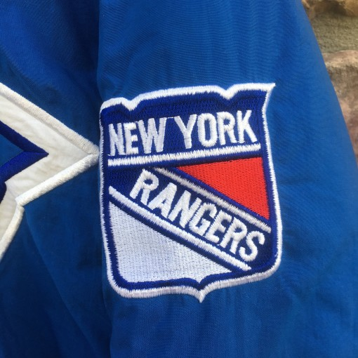NY Rangers patch on starter jacket