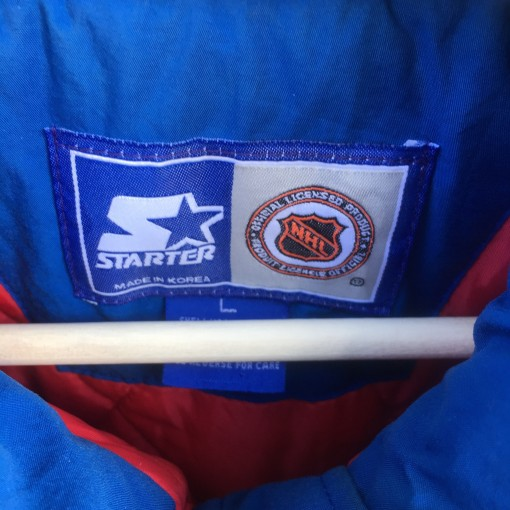 vintage Starter Rangers Jacket size large