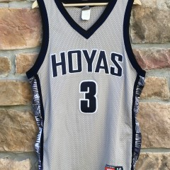 vintage 90's Georgetown Hoyas Allen Iverson Nike NCAA jersey size 44 large