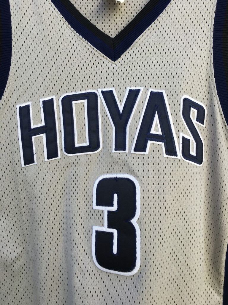 check out e8616 32e0b 1996 Allen Iverson Georgetown Hoyas Authentic Nike NCAA Jersey Size 44