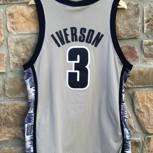 vintage Allen Iverson Georgetown Hoyas Nike authentic ncaa jersey size 44 large