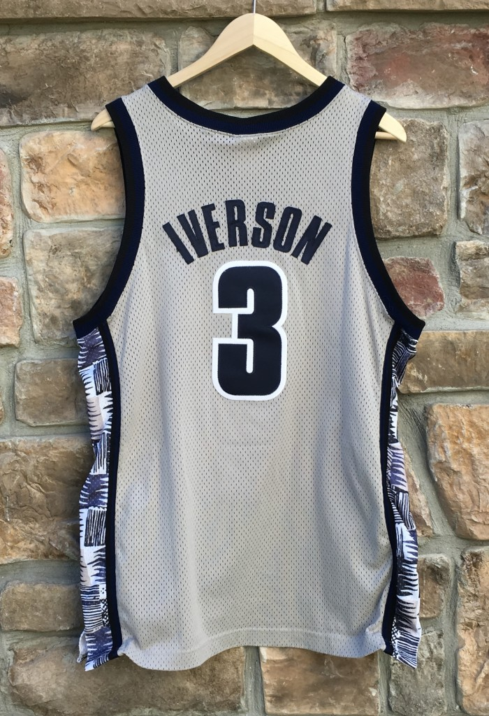 check out baa7b 8f793 1996 Allen Iverson Georgetown Hoyas Authentic Nike NCAA Jersey Size 44