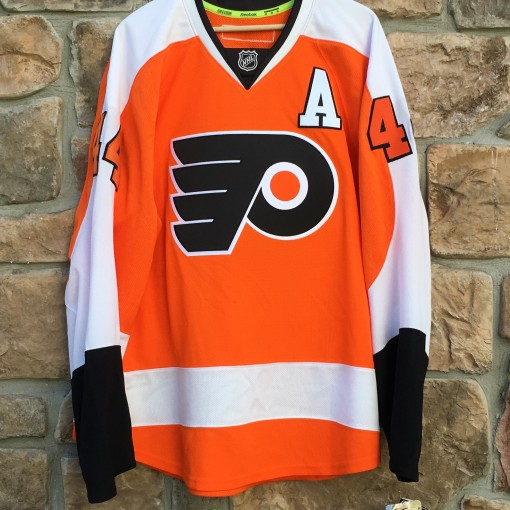 Philadelphia Flyers authentic Reebok edge NHL hockey jersey orange