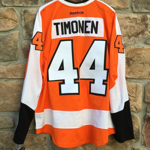 Philadelphia Flyers Kimmo Timonen authentic reebok edge jersey size 56