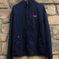 vintage 90's polo sport navy blue windbreaker jacket size XXL