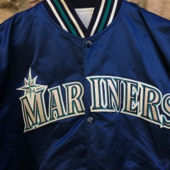 vintage 90's seattle mariners starter satin jacket