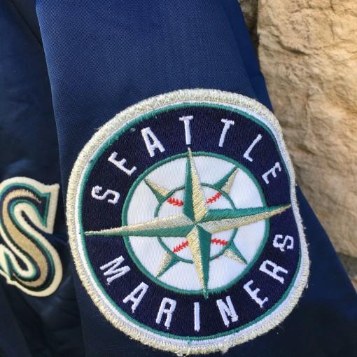 vintage 90's seattle mariners starter satin jacket