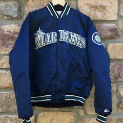 vintage 1993 Seattle Mariners Starter satin jacket size large
