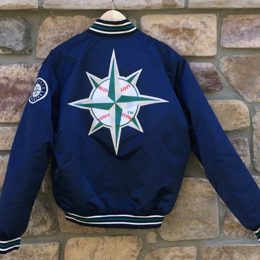 vintage Seattle mariners starter satin jacket with back patch