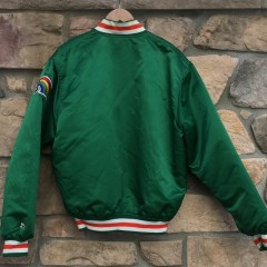 vintage hawaii rainbows starter satin jacket