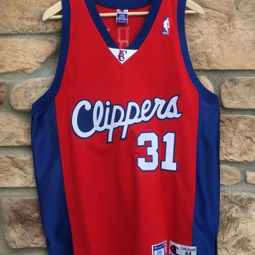 vintage brent barry lost angeles clippers authentic champion jersey